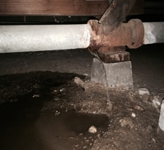 Copper pipeline re piping.  Waterline repair and installation service.